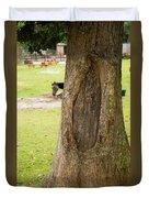 Oval Tree Art Duvet Cover