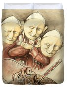 Over-pope-ulation - Cartoon Art Duvet Cover