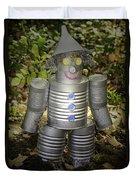Over The Rainbow Garden Tin Man Duvet Cover