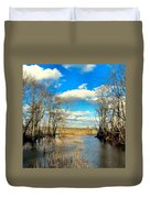 Over The Waters Duvet Cover