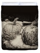 Overdue Fall Feast Remains Duvet Cover