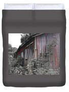 Overgrown Shed B/w Duvet Cover