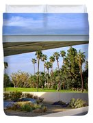 Overhang Palm Springs Tram Station Duvet Cover by William Dey