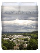 Overlooking Boyertown Duvet Cover