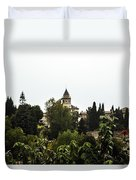 Overlooking The Alhambra On A Rainy Day - Granada - Spain Duvet Cover