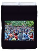 Overlooking The Asheville Drum Circle Duvet Cover
