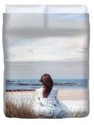 Overlooking The Sea Duvet Cover