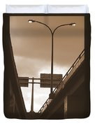 Overpass In Sepia Duvet Cover