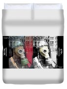 Overprinted Gas Mask Duvet Cover