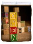 Owen - Alphabet Blocks Duvet Cover