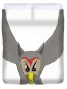 Owl Attacking Duvet Cover