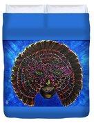 Owl Mask Self Portrait Duvet Cover