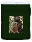 Owls From Amado Arizona Duvet Cover