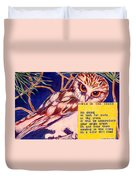 Owls In The Trees Duvet Cover
