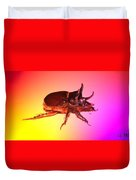 Ox Beetle In Color Duvet Cover