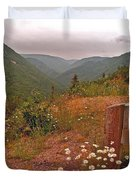 Ox-eye Daisies On Skyline Trail In Cape Breton Highlands Np-ns Duvet Cover
