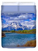 Oxbow Bend In Spring Duvet Cover