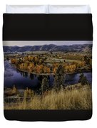 Oxbow Bend In The Wenatchee River Duvet Cover