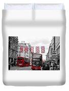 Oxford Street Flags Duvet Cover