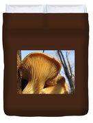 Oyster Mushroom Macro Duvet Cover