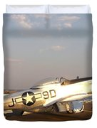 P-51 Mustang Fighter Aircraft Duvet Cover