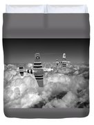 P-51 Mustangs Black And White Version Duvet Cover