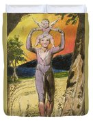 P.124-1950.pt29 Frontispiece To Songs Duvet Cover by William Blake