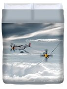 P51 Mustang - Old Crow Duvet Cover