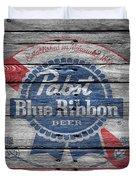 Pabst Blue Ribbon Beer Duvet Cover