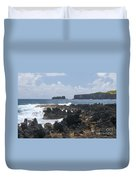 Pacific Coast On The Road To Hana Duvet Cover
