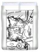 Pacific Grove And Vicinity  Monterey Peninsula California  Circa 1880 Duvet Cover