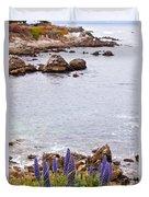 Pacific Grove Coastline Duvet Cover