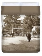 Pacific Grove Retreat Gate On Lighthouse At Grand Aves  With  O. J. Johnson Circa 1880 Duvet Cover