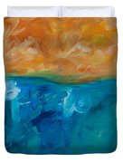 Pacific Isle Sunset Duvet Cover
