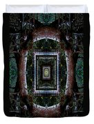 Pacific Madrone Mandala Yantra Duvet Cover
