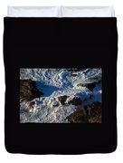 Pacific Ocean Against Rocks Duvet Cover