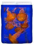 Pacific Sea Nettle Cluster 2 Duvet Cover