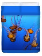 Pacific Sea Nettles Duvet Cover