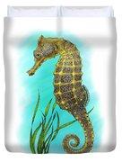 Pacific Seahorse Duvet Cover