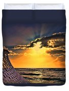 Pacific Sunset By Diana Sainz Duvet Cover