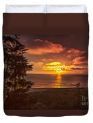 Pacific Sunset Duvet Cover by Robert Bales