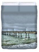 Pacifica Fishing Pier 7 V2 Duvet Cover