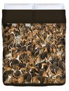Pack Of Hound Dogs Duvet Cover