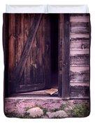 Package By Open Front Door Duvet Cover