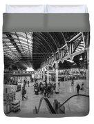 Paddington Station Bw Duvet Cover