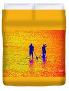 Paddle Board Paradise Duvet Cover