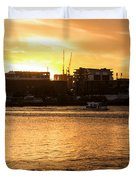 Paddle By The Sunset Duvet Cover