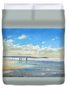 Paddling At The Edge Duvet Cover
