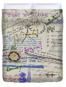 Page From The Madwoman's Notebook Duvet Cover