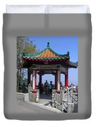 Pagoda Pavilion Duvet Cover
